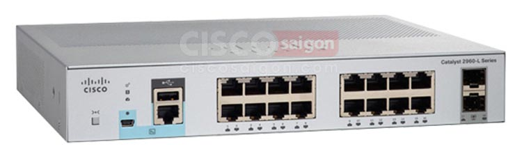 WS-C2960L-16PS-LL Cisco Catalyst 2960L 16 port GigE with PoE, 2 x 1G SFP, LAN Lite