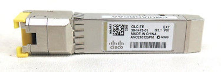 Cisco GLC-TE 1000BASE-T SFP transceiver module (Copper, 100m, RJ-45 connector)