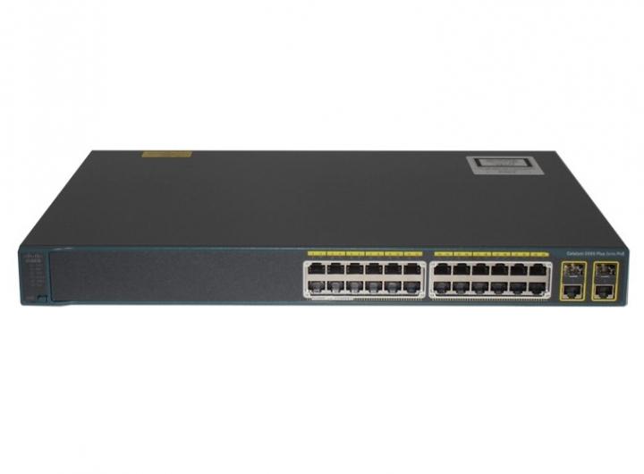 Cisco WS-C2960+24PC-L 24 Port 10/100 PoE + 2 T/SFP LAN Base