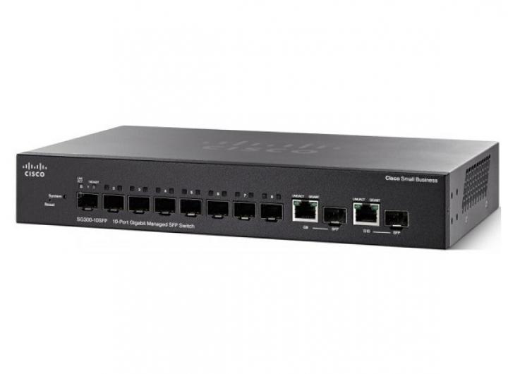 Cisco SG350-10SFP 10-port Gigabit Managed SFP Switch
