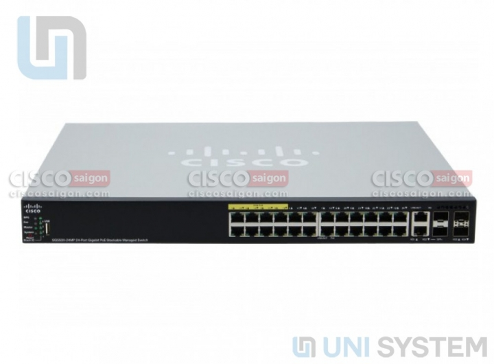 Cisco SG550X-24P 24-port Gigabit PoE Stackable Switch