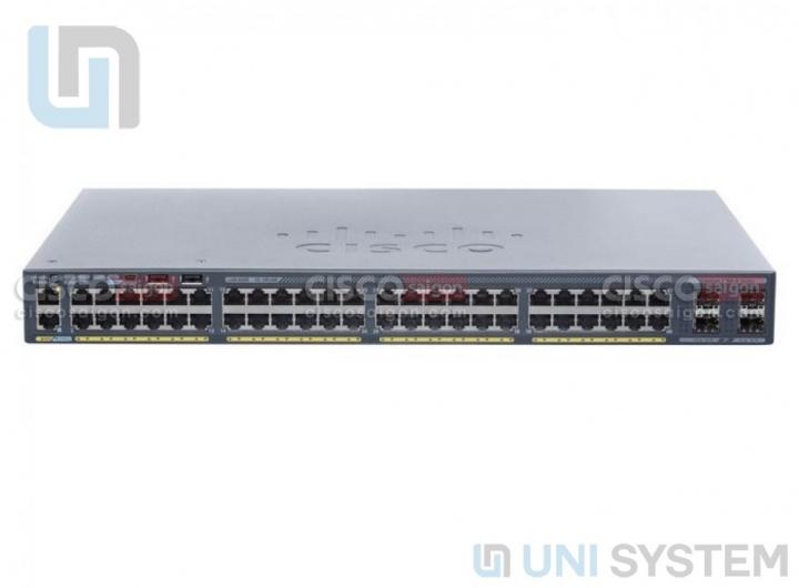 WS-C2960X-48TS-L Cisco Catalyst 2960X 48 port GigE + 4 ports SFP 1Gb, LAN Base