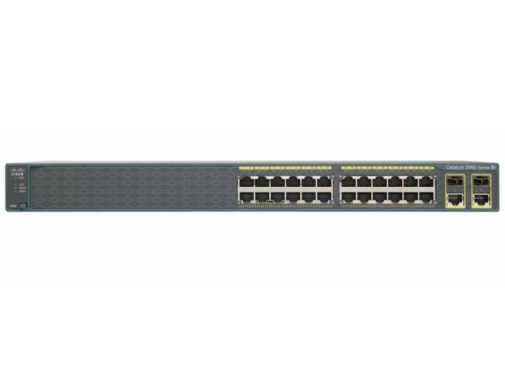 WS-C2960+24TC-S Cisco 2960 Plus 24 port 10/100M + 2 T/SFP LAN Lite